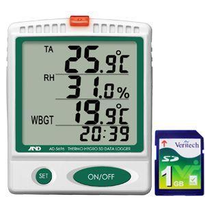 A&D 熱中症指数モニター SDデータレコーダー(記録計) AD-5696|lifescale