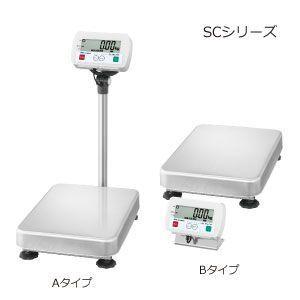 A&D 検定付き 防塵・防水デジタル台はかり 一体型 SC-150KAL-K (秤量:150kg)|lifescale