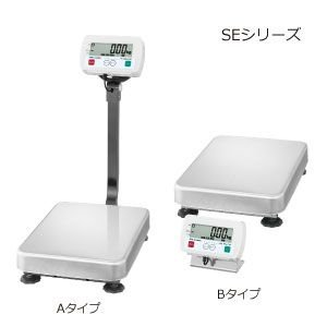A&D 検定付き 防塵・防水デジタル台はかり セパレート型 SE-150KBM-K (秤量:150kg)|lifescale
