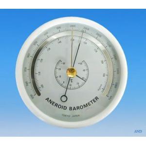 安藤計器 アネロイド気圧計 (温度計付) 4-125T|lifescale