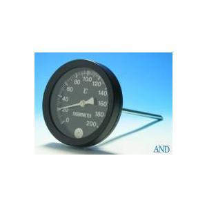 安藤計器 アスファルト温度計 AT-100K (0〜200℃、Φ100L=、Φ8×250mm)|lifescale