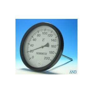 安藤計器 アスファルト温度計 AT-150 (0〜200℃、Φ150L=Φ8×220mm)|lifescale