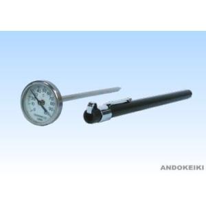 安藤計器 携帯用温度計 (ポケットバイメタル) PB-25 (0〜250℃)|lifescale
