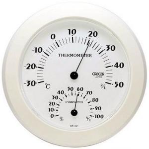 温湿度計 壁掛け用 CR-221 クレセル|lifescale