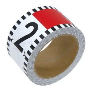シンワ測定 貼付ロッド 合成紙製 60mm×26m 赤白20cm間隔 目盛数字付 78196 lifescale