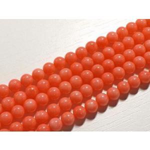 ピンクコーラル(珊瑚) ラウンド6mm 1連  〜商品詳細〜  玉サイズ・・・6mm 連長さ・・・約...