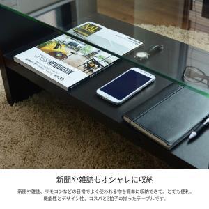 ローテーブル ガラステーブル センターテーブル...の詳細画像4