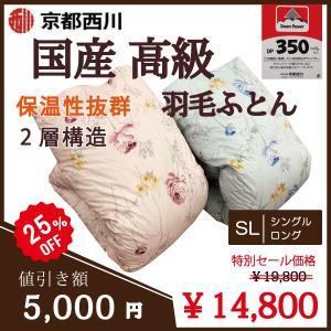 【限定特別セール】京都西川 羽毛布団 2...