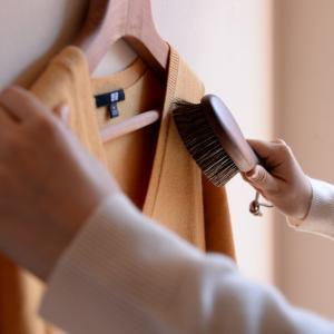 洋服ブラシ カシミヤ 馬毛 ショージワークス ウォールナット洋服ブラシ カシミア シルク用 馬毛
