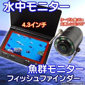 水中モニターシステム 4.3インチモニター 水中カメラ フィッシュファインダー 魚群探知機...
