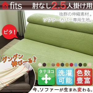 ソファーカバー  2人掛け 〜2.5人掛け 肘なし ストレッチ 伸縮 洗える fits 2way フィット|lifetime