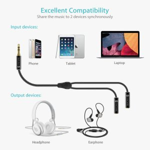 9 Headphone splitter to share your music. AXCEL Electronics