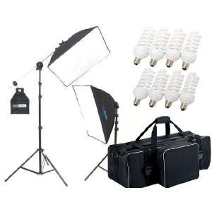 撮影機材 撮影照明 「ヘアサロン撮影キット」蛍光灯照明2灯セット|light-grafica