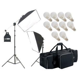 撮影機材 撮影照明 「ヘアサロン撮影キット」LED電球照明2灯セット|light-grafica