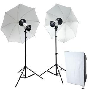 撮影機材 撮影照明ハイスペック600Wデジタルストロボ2灯シンプルセットST60002_2