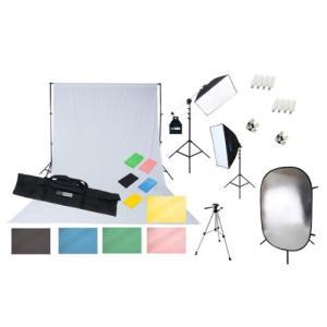 撮影機材 「すぐ撮る」ミディアムフル50×70cm蛍光灯照明2灯+大型レフ板&背景サポートセット 料理や雑貨や人物撮影のライト 背景サポート付|light-grafica|02