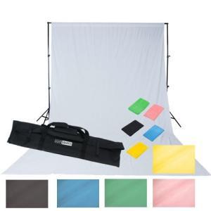 撮影機材 「すぐ撮る」ミディアムフル50×70cm蛍光灯照明2灯+大型レフ板&背景サポートセット 料理や雑貨や人物撮影のライト 背景サポート付|light-grafica|06