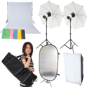 撮影機材 撮影照明 撮影会にもバッチリOK「超簡単本格派デジカメ撮影照明」ストロボ250W照明フルセット|light-grafica