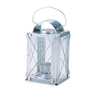 ブリキ・ランタン 角(シルバー) キャンドルホルダー ポイント10倍&プレゼント付|lighthouse