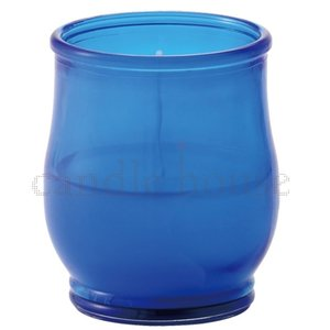 キャンドル イベント用 屋外用にもおすすめ カメヤマ キャンドルグラス ポシェex ブルー キャンドルナイト用 グラス入りキャンドル キャンドルイベント用|lighthouse