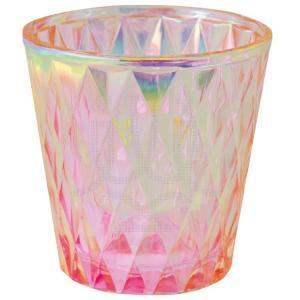 オーロラをまとったような輝くピンクにシャープなダイヤのデザインを合わせました! クリアカップ入りキャ...