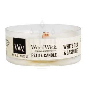 アロマキャンドル ウッドウィック プチキャンドル ホワイトティー&ジャスミンの香り 木製芯 ポリカーボネート製カップ入り カメヤマ|lighthouse