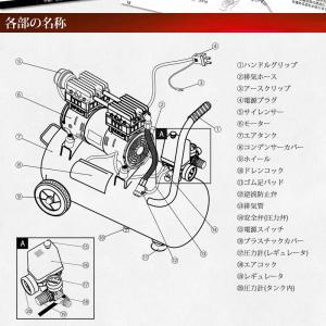 予約販売 エアーコンプレッサー 30L 100V 静音 型 オイルレス エアーツール付 エアープレッシャーゲージ他 日本語説明書付 送料無 DAR3000 lightingworld 08
