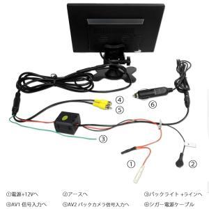 オンダッシュモニター 9インチ タッチボタン 埋め込みモニター ヘッドレストモニター用ブラケット付き 送料無 DT90TB990B|lightingworld|04