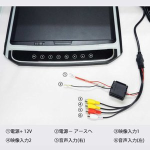 フリップダウンモニター 10.2インチ 高画質 デジタル LEDバックライト液晶 HDMI MicroSD対応 送料無 F1014BH|lightingworld|07