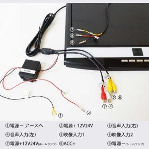 フリップダウンモニター 15.6インチ 12V 24V フルHD 高画質1920×1080 HDMI端子 USB SD 3色選択可 送料無 F1561|lightingworld|07