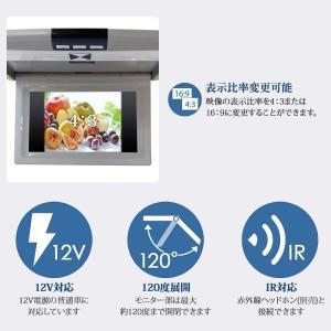 グレー9インチフリップダウンモニター デジタル液晶モニター/IRイヤホン対応可能 3色 送料無 F901|lightingworld|04