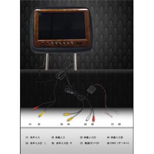 ヘッドレストモニター WVGA画質 9インチデジタル液晶採用 2台セット ウッド調枠 3色 送料無 H299|lightingworld|03