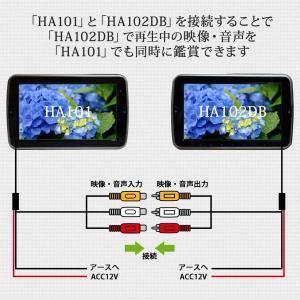 10.1インチヘッドレストモニター2個セット DVDプレーヤー付 ゲームDVDコントローラー付 タッチボタン スピーカー内蔵 送無 HA101102DB lightingworld 03