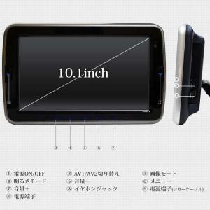 予約販売 ヘッドレストモニター 2個セット DVD プレーヤー付 CPRM対応 10.1インチ タッチボタン スピーカー内蔵 HDMI 送料無 HA101102DB|lightingworld|07