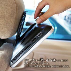 ヘッドレストモニター 10.1インチ DVDプレーヤー 内蔵 SONY製光学レンズ採用 CPRM 対応 後部座席 車 モニター リアモニター 送料無 HA103D|lightingworld|03