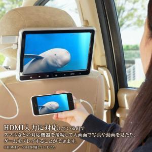 ヘッドレストモニター 10.1インチ DVDプレーヤー 内蔵 SONY製光学レンズ採用 CPRM 対応 後部座席 車 モニター リアモニター 送料無 HA103D|lightingworld|04