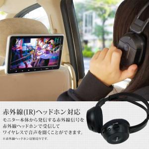 ヘッドレストモニター 10.1インチ DVDプレーヤー 内蔵 SONY製光学レンズ採用 CPRM 対応 後部座席 車 モニター リアモニター 送料無 HA103D|lightingworld|06