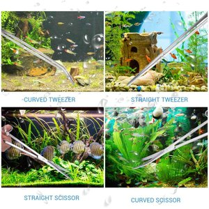 Fbest 水草トリミング サンドフラッター 水槽管理 草植栽 小園芸 爬虫類飼育 水草トリミング用...