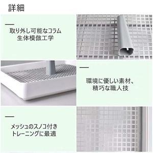 ペットトレー犬用トイレ 清潔トイレセット メッシュのスノコ付き 漏れにくい構造 (S)