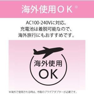 コイズミ ヘアアイロン ストレート コードレス ボリュームアップ 海外対応 micro USB対応 ピンク KHR-6410/P lightlyrow
