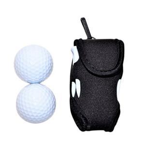 ボール2個付き World Bridge ゴルフポーチ ゴルフボールケース 2個収納 ゴルフボール ...