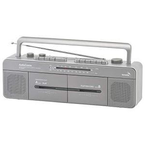 オーム電機 AudioComm ダブルラジカセ ステレオダブルカセットレコーダー RCS-W960R...