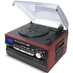 クマザキエイム Bearmax マルチレコードプレーヤー/レコーダー SDカード・USBメモリにダイ...