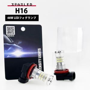 H16 LED フォグランプ / フォグライト ホワイト / 白 ステルス仕様 48W 3014チップ 送料無料 lightning