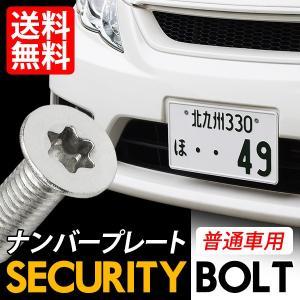 セキュリティ− ナンバーボルト ナンバープレート用 専用工具付き ロック 盗難対策に M6 x 6mm 12mm 16mm 20mm 選択可|lightning