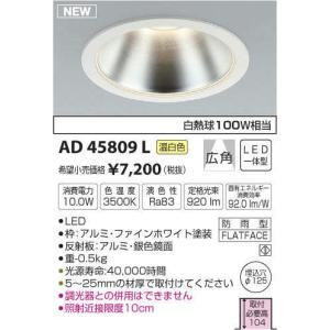 コイズミ照明 LEDダウンライト AD45809L