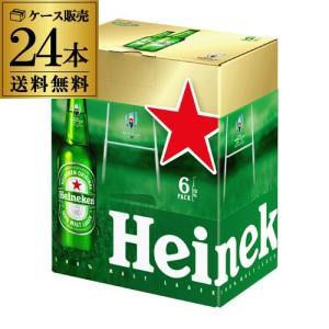 ハイネケン ロングネックボトル 330ml瓶 24本(6本パック×4)  送料無料 ラグビーワールドカップ公式ドリンク オリジナルパッケージ 海外ビール 長S|likaman