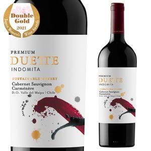 赤ワイン インドミタ デュエット プレミアム カベルネ&カルメネール チリ 辛口 長S|likaman