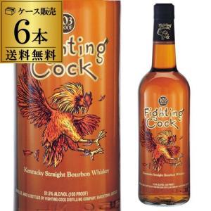 ウイスキー 送料無料 ケース販売(6本入) ファイティング コック (並行)51.5度 750ml×6本 whisky|likaman