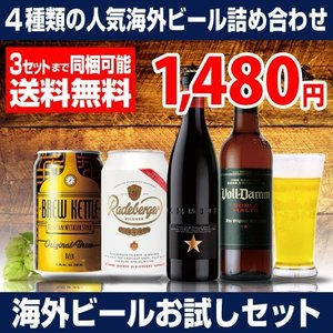【おひとり様3setまで】【送料無料】いちおし海外ビールお試し4本セット 5弾《 イネディット、ラーデベルガー、ブルーケトル、ボルダム  》4種×各1本 [長S]